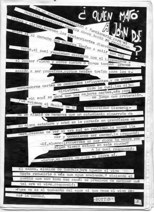 """¿Quien amtó a John Doe"""" de Rotten. Todo un clásico para este número y para los siguientes."""