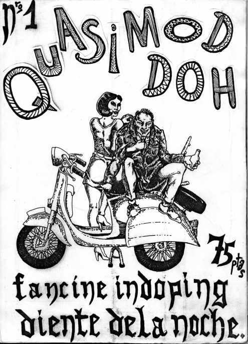 La portada del Quasi número 1.  Muy Mod y con el juego de palabrasl