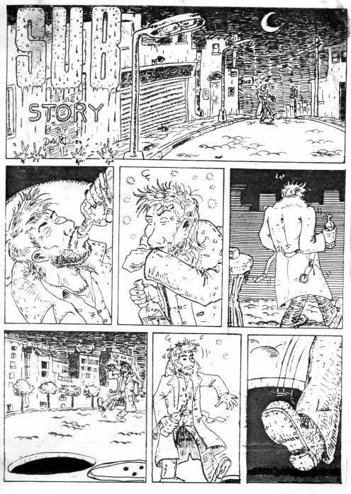 Comic de David. Sub Story. Como nos gustaba la priva ... al final todo era un mal sueño.