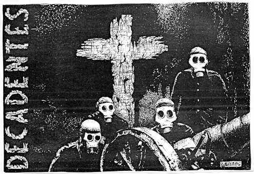 La que bien podría haber sido una portada de disco de Los Decadentes. Buen grupo de GU de la época.