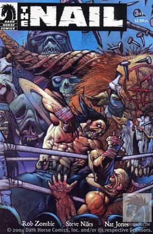 """Portada para """"El Clavo""""  de Steve Niles, Rob Zombie y Natt Jones."""
