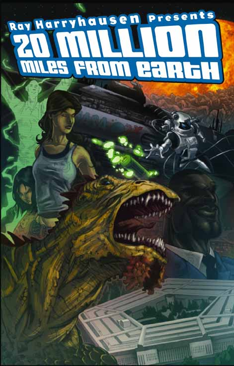 "Comic de BlueWater Productions, basado en el argumento de ""20 Million Miles to Earth""."