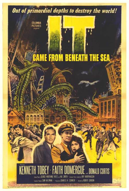 """It came from beneath the sea"" de 1955, donde Harryhausen formo equipo con el productor Charles H. Schneer."