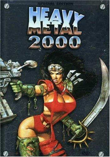 Portada para la revista Heavy Metal.  Con una guerrera tipicamente Bisley.