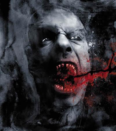 Los vampiros dibujados por Ben Templesmith son unos gourments de la sangre de mucho cuidado.