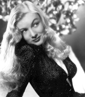 """La belleza de Veronica lake y su mítico peinado """"peek-a-boo bang"""""""