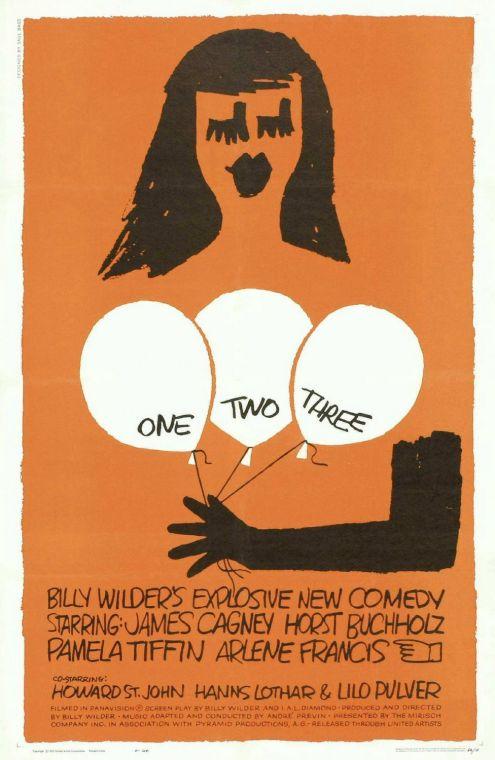 Otro cartel con la imagen de la alocada Scarlett, papel interpretado magistralmente por Pamela Tiffin, y ¡Como no! los globos.
