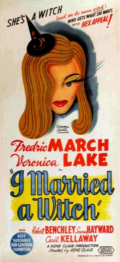 """I Married A Witch"" producida por Paramount Pictures, significó un éxito en la carrera de Veronica Lake."