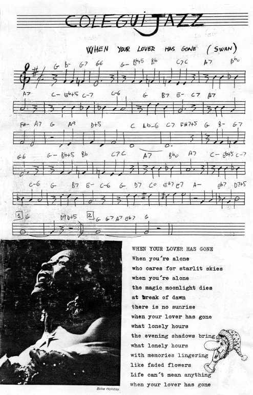 Segunda entrega de ColeguiJazz. Seguía una página con la historia de Billie Holiday.