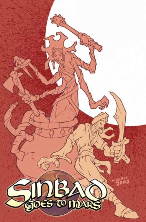 Otra idea de harryhausen llevada al mundo de la historieta por los de BlueWater: Simbad el marino.