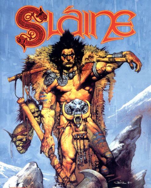 Slane, el salvaje guerrero celta, creado por Pat Mills y que catapultó a la fama a Simon Bisley.