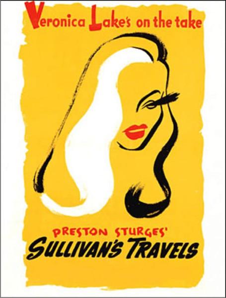 """Este cartel se centraba en uno de los rasgos que harían más famosa a Veronica Lake, su peinado """"peek-a-boo bang""""."""