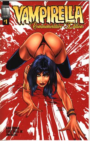 Edición conmemorativa del Vampirella #1. El erotismo vampírico en todo su apogeo.