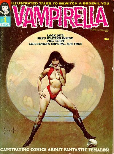 Vampirella #1. de 1969 con portada de Franz Frazetta.