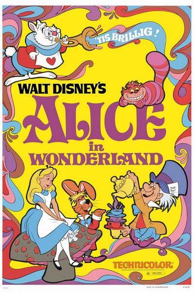 La primera versión de la factoría Disney sobre la obra de Lewis Carroll.