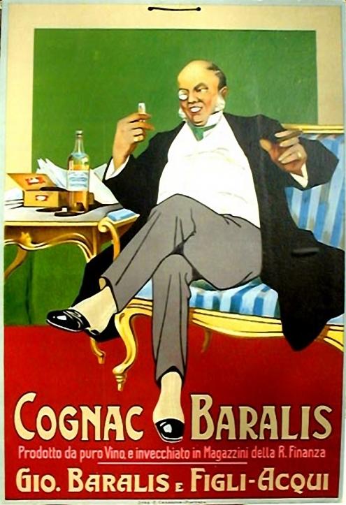Un gordo y seboso capitalista no puede prescindir de un buen monóculo, un buen puraco y un buen cognag Baralis.