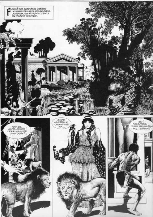 La Odisea. Adaptación de Pérez Navarro y dibujo de Martín Saurí, en el magnífico comic de 1982, recientemente re-editado por Norma Editorial en su 25 Aniversario.