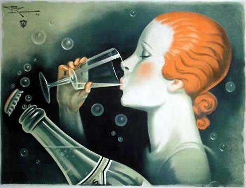 Un refrescante y elegante anuncio de agua con gas. Burbujeante como el champagne.