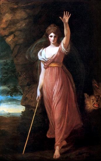 El pintor inglés George Romney (1734-1802) representó a lady Hamilton como Circe en varios cuadros. La belleza de lady Hamilton destaca en el papel de la seductora hechicera.