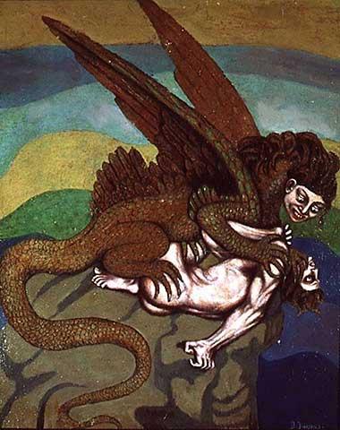 36_167330~_boleslas-biegas_a-vampire-in-the-form-of-a-lizard,-1916