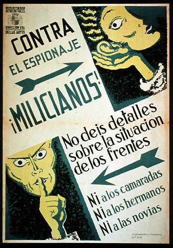 folleto republicano alertando del espionaje fascista