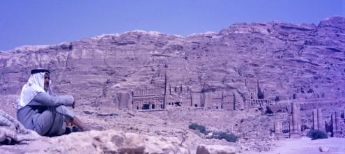 La conocida como Pared Real. La pared de Yebel Khubtha alberga tumbas impresionantes conocidas como tumbas reales, aunque nadie sabe quienes fueron los reyes.