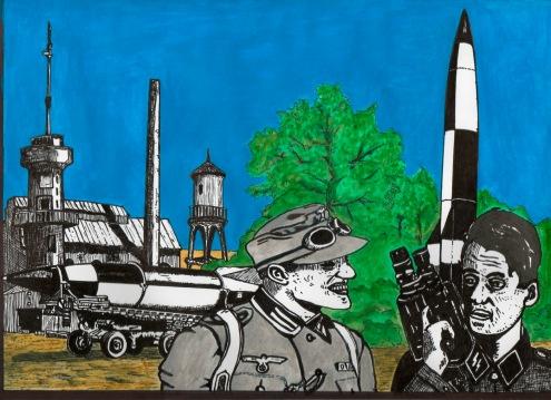 En Peenemünde los nazis se divierten con sus juguetitos de destrucción masiva